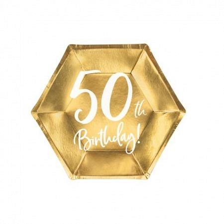 Party Kartonteller 50. Geburtstag 6 Stück