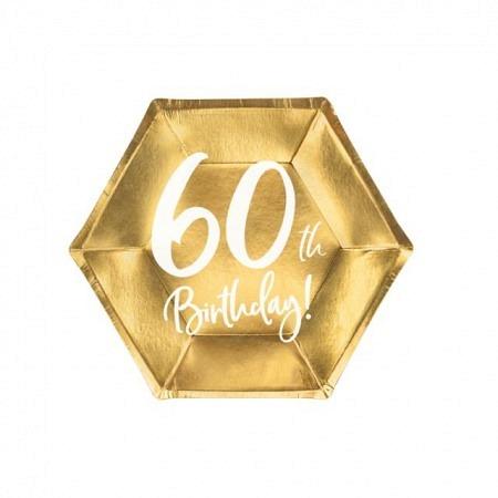Party Kartonteller 60. Geburtstag 6 Stück