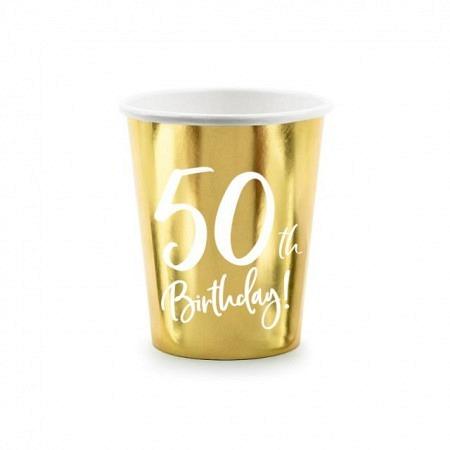 Party Kartonbecher 50. Geburtstag 6 Stück