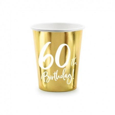 Party Kartonbecher 60. Geburtstag 6 Stück
