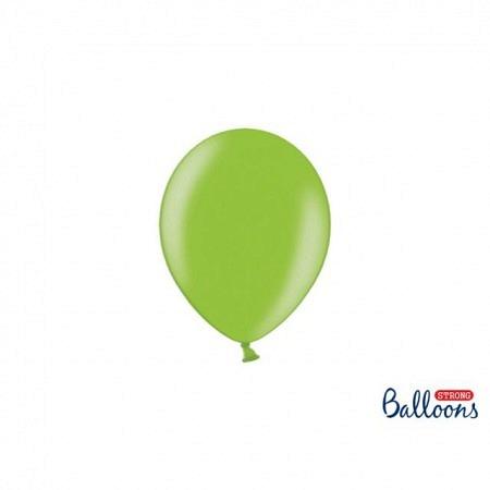 Metallic Öko Ballons Knallgrün 13 cm - 100 Stück