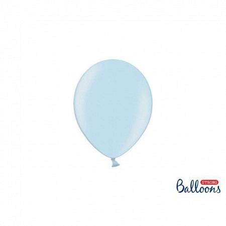 Metallic Öko Ballons Hellblau 13 cm - 100 Stück