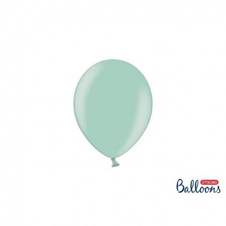 Metallic Öko Ballons Mint Green 13 cm - 100 Stück