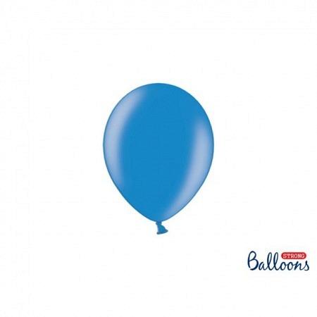 Metallic Öko Ballons Kornblumenblau 13 cm - 100 Stück