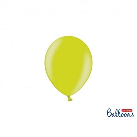 Metallic Öko Ballons Lime Green 13 cm - 100 Stück