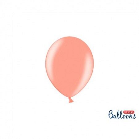Metallic Öko Ballons Rosé Gold 13 cm - 100 Stück
