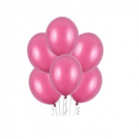Metallic Öko Ballons Hot Pink 13 cm - 100 Stück
