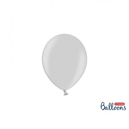 Metallic Öko Ballons Silver Snow 13 cm - 100 Stück