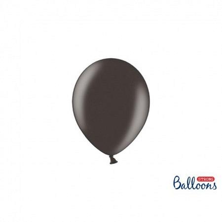 Metallic Öko Ballons Schwarz 13 cm - 100 Stück