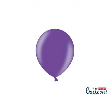 Metallic Öko-Ballons Lila 13 cm - 100 Stück