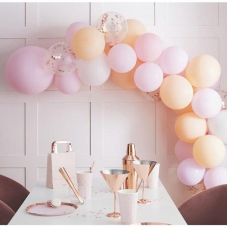 Ballongirlande DIY Peach and Pink Ballonbogen
