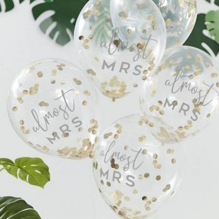 Konfetti Ballons Bridal Shower