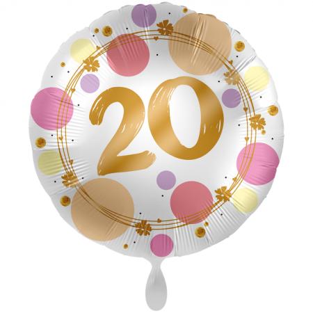 Geschenkballon 20. Geburtstag Maxi