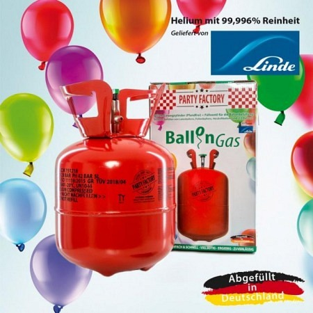Helium Einweg 140 Liter für 10-20 Luftballons