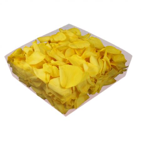 Rosenblätter echt, Gelb 2 Liter - konserviert