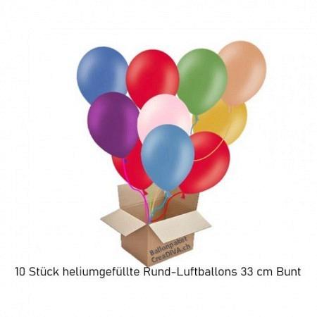 Öko Luftballons mit Helium gefüllt Bunte Mischung