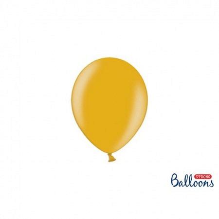 Metallic Öko Ballons Gold 13 cm - 100 Stück