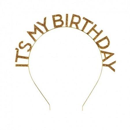 Geburtstags-Haarspange Gold