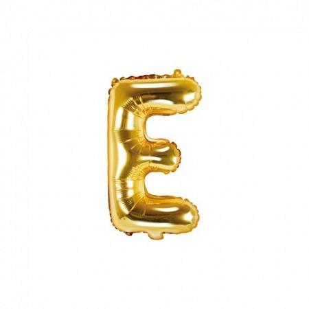 Buchstabe Folienballon E Gold 35-40 cm