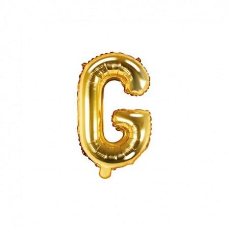 Buchstabe Folienballon G Gold 35-40 cm