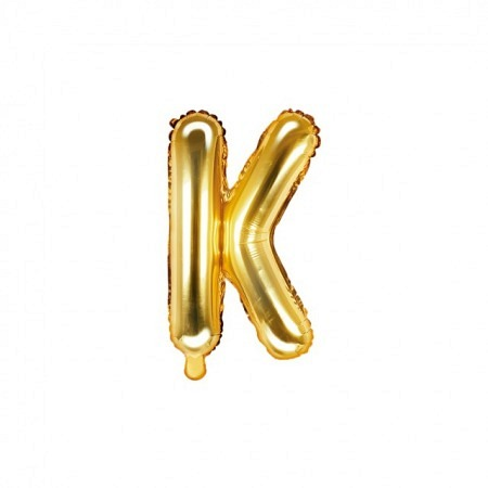 Buchstabe Folienballon K Gold 35-40 cm