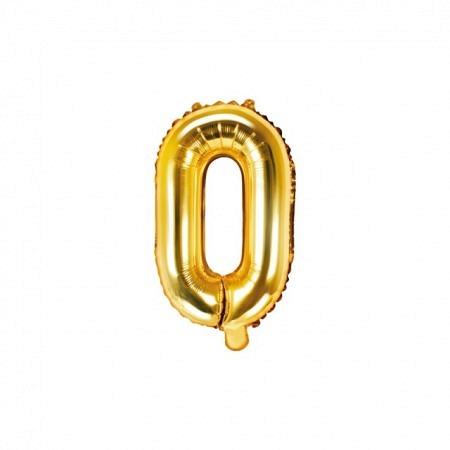 Buchstabe Folienballon O Gold 35-40 cm