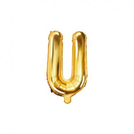 Buchstabe Folienballon U Gold 35-40 cm