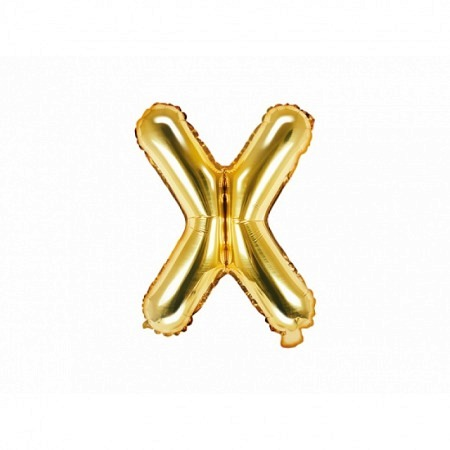 Buchstabe Folienballon X Gold 35-40 cm