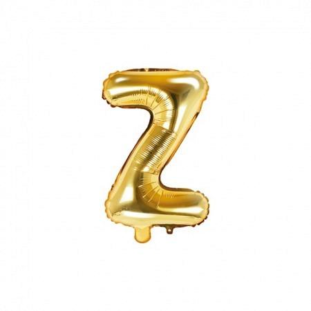 Buchstabe Folienballon Z Gold 35-40 cm