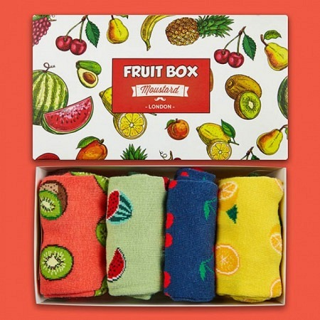 Moustard Fruit Box 4 Paar Frauensocken 36-40