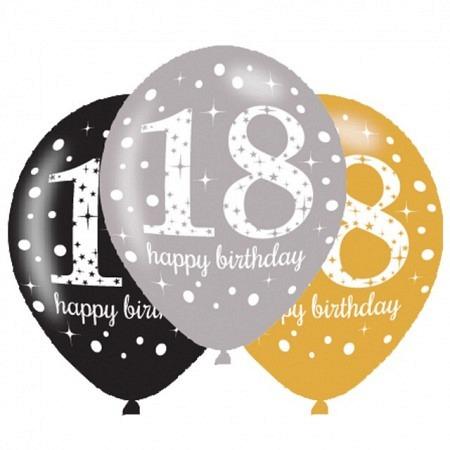 Latexballons 18. Geburtstag Sparkling