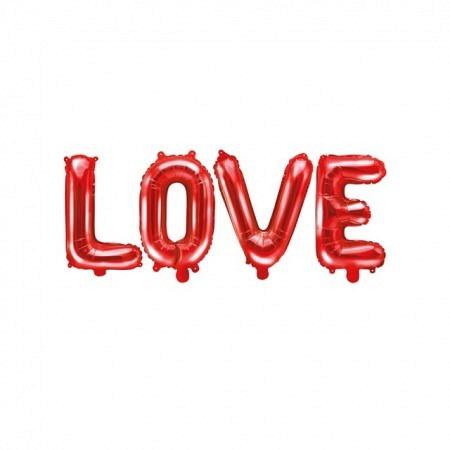 Ballon Buchstabengirlande LOVE Rot 140 x 35 cm