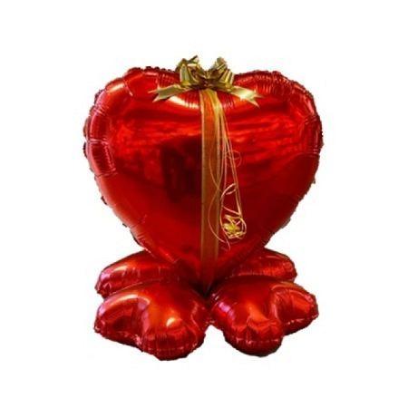 Geschenkballon-Cluster Rotes Herz - Geldbeilage möglich